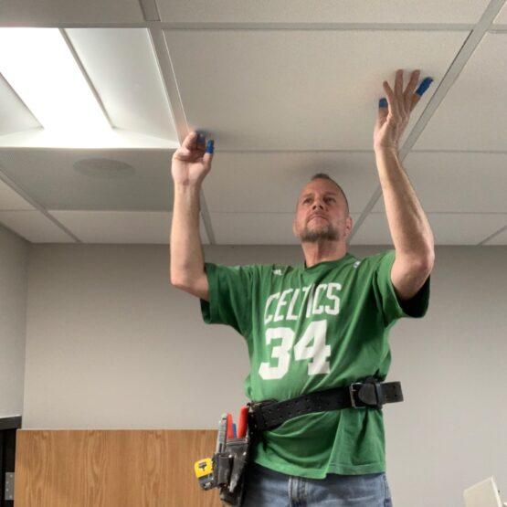 drop ceiling tile repair Boston ma